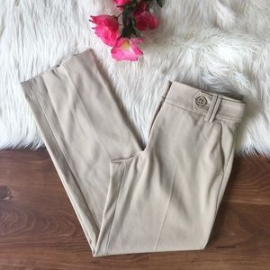 Rafaella Straight leg light khaki career pants G8